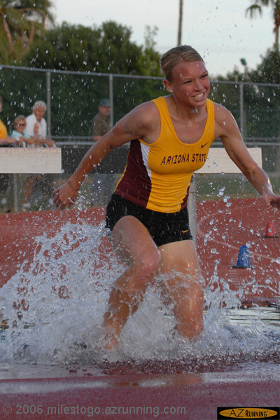 Brooke Bennett, 2006 PAC-10 steeplechase champion, competing in the 2006 ASU Invitational