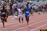 Willie Gault, en route to a new masters world record in the 100 meter dash