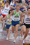 Daniel Lincoln won his 3rd straight national championship in the steeplechase