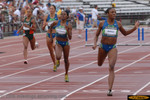 Lashinda Demus' performance in the 400 meter hurdles earned her $100,000 in the Visa Challenge