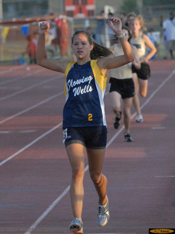 Tara Erdmann swept the distance events in 5A Division II competition