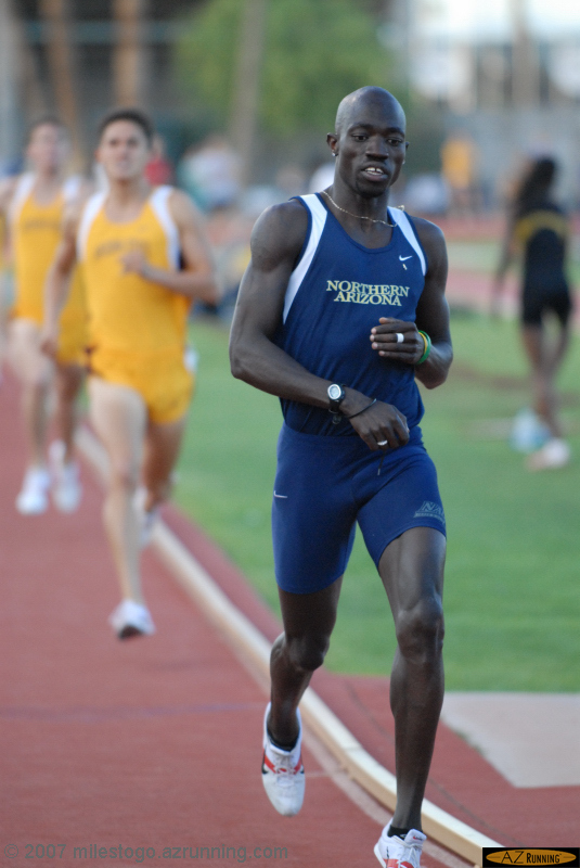 Lopez Lomong set a meet record in the 1500 meter run