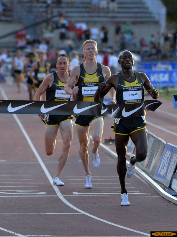 Bernard Lagat wins the men's 5,000