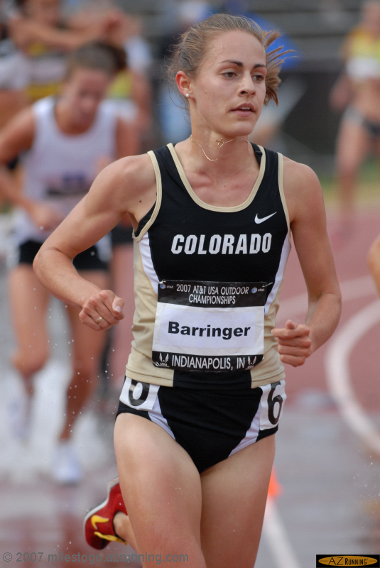 Jenny Barringer won the women's steeplechase