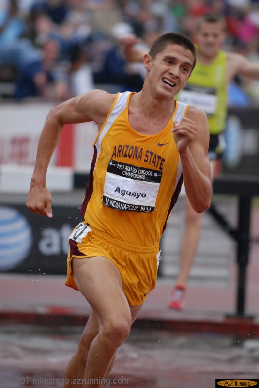 Aaron Aguayo placed 2nd in the men's 3,000 meter steeplechase