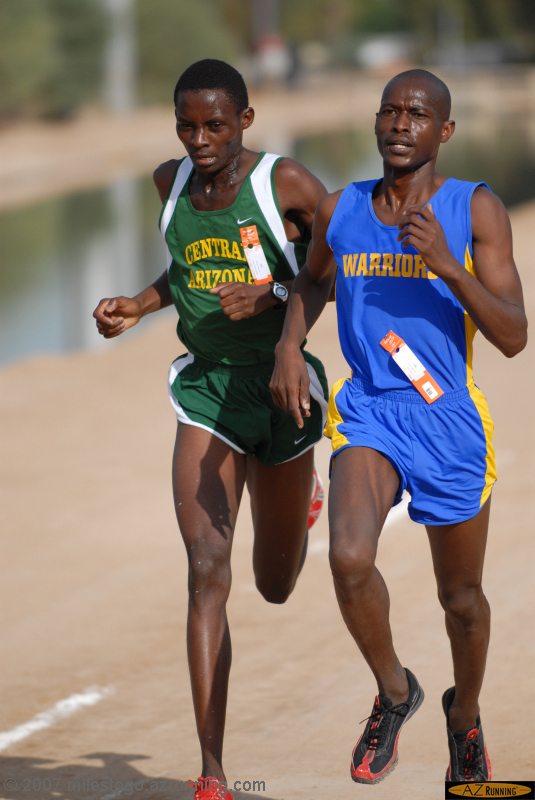 Jacob Kirwa and Tyson David waged a spirited duel in Tempe