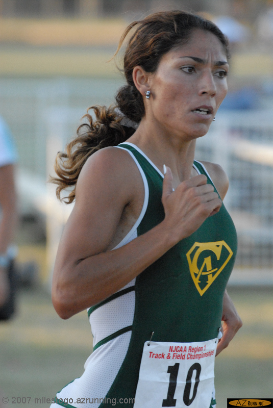 Aybuk Kizilarslan won both the 800 and 1500 meter runs