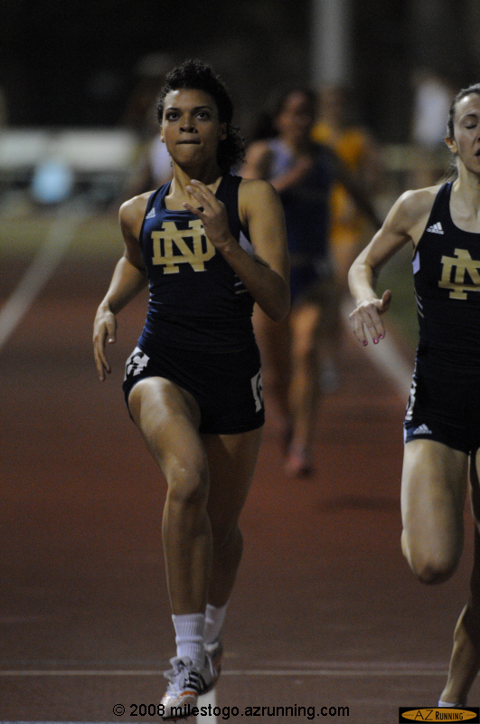Former Xavier College Prep star Natalie Johnson, now competing for the University of Notre Dame