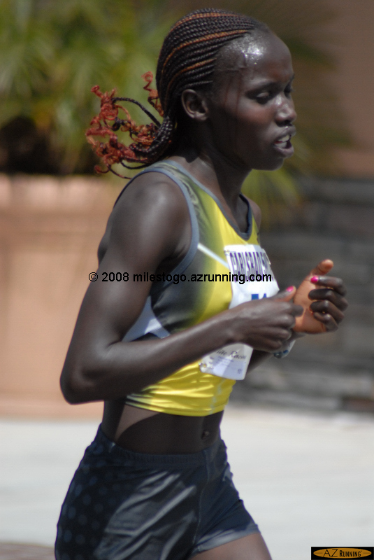 Vivian Cheruiyot decisively won the Women's Invitational race