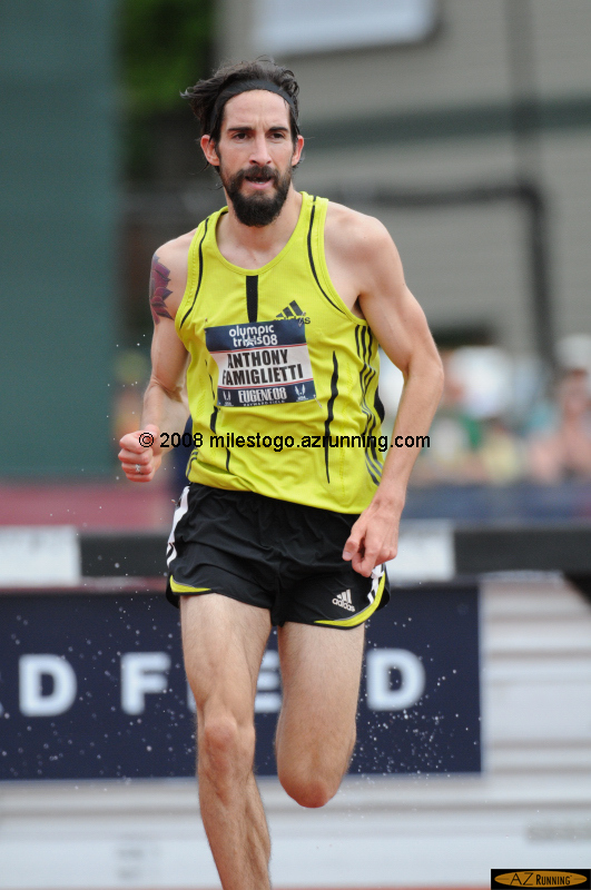 Fam led the 3,000 meter steeplechase from the gun