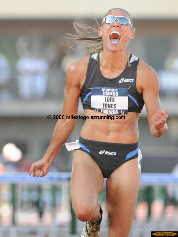 Lolo Jones ran the fastest 100 meter hurdles race ever recorded by an American