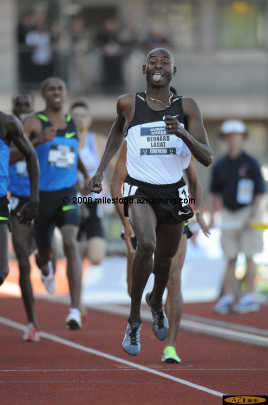 Bernard Lagat repeated his 1,500 - 5,000 meter wins from last year's World Championships