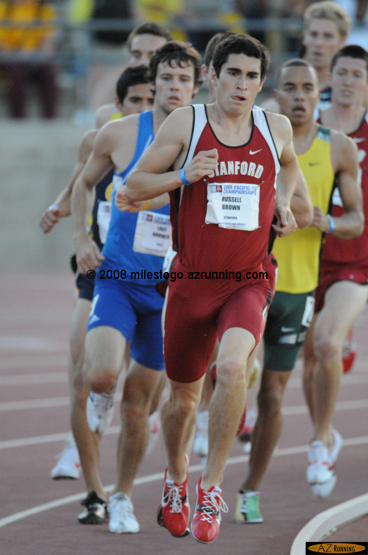 Russell Brown leads the men's 1500 meter final