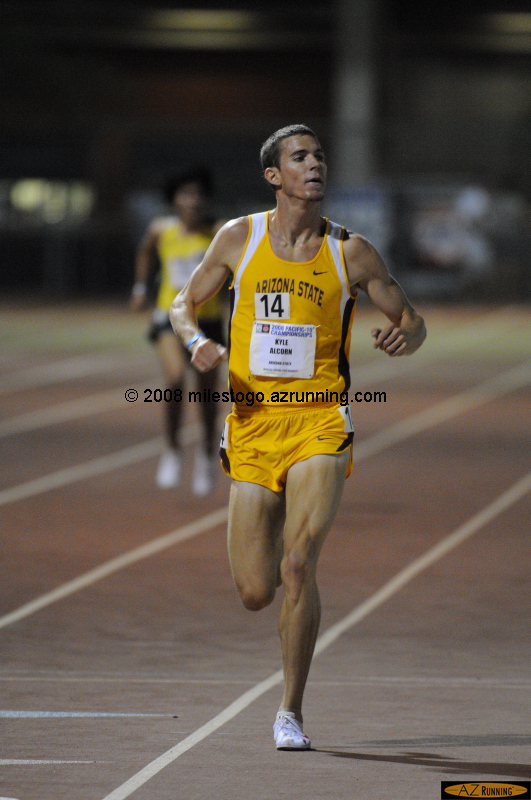 Kyle Alcorn (14:12.76) added the 5,000 meter title to his steeplechase crown