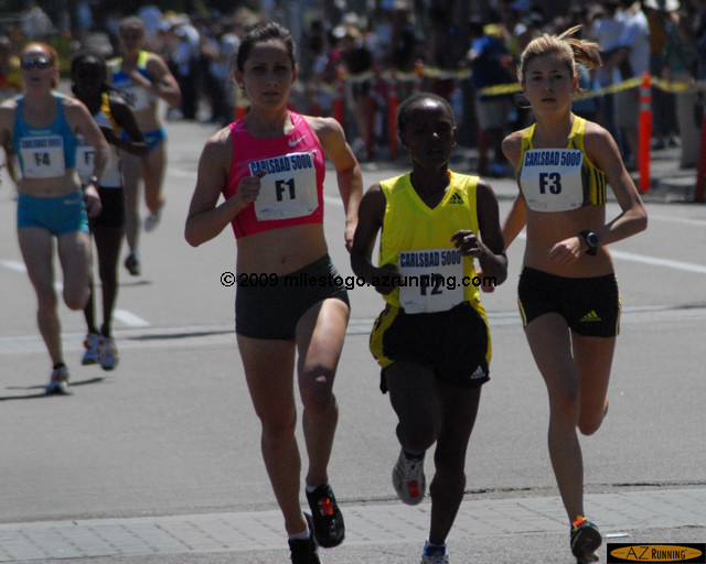 Aheza Kiros (F2) of Ethiopia won the women's race, edging out 2008 U.S. Olympian Shannon Rowbury.
