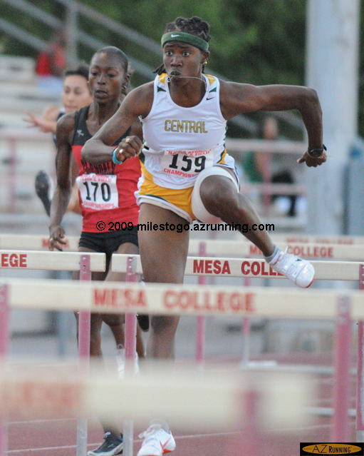 Kierre Beckles set a new meet record in the 100 meter hurdles during Thursday's competition