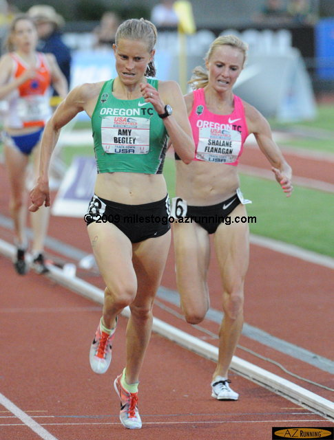 Amy Yoder Begley set a new Hayward Field record for 10,000 meters.