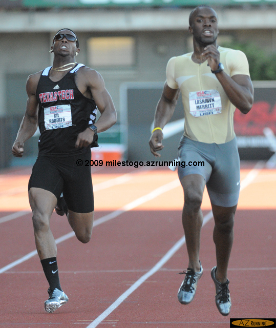 LaShawn Merritt claimed the national title at 400 meters and remained undefeated in 2009