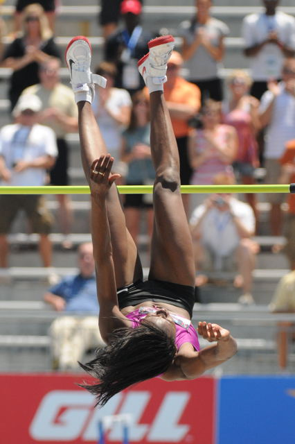 Chaunte Lowe set a new American Record in the Women's High Jump