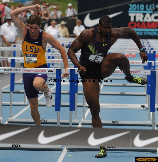 David Oliver dominated the 110 meter hurdles competition