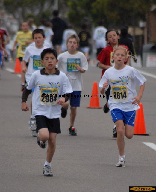 Competitors in the Age 10 race