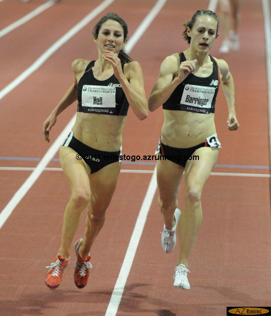 Jenny (Barringer) Simpson held off Sara Hall's last lap challenge