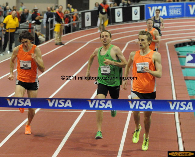 Jeff See won a thrilling Men's mile, after coming off the final turn in third place behind Aaron Braun and Garrett Heath