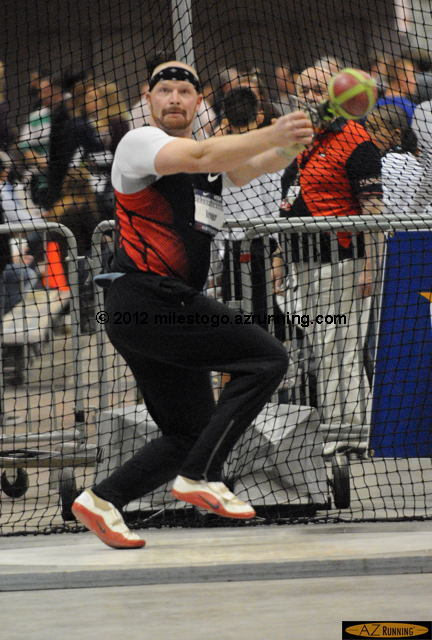 AG Kruger won the men's weight throw.
