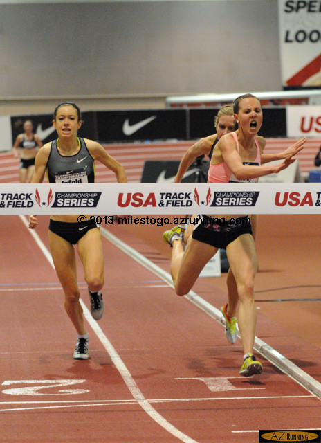 Chelsea Reilly tumbled to the track ahead of Emily Infeld and 2012 Olympian Lisa Uhl, to claim the national title in the women's 3,000 meters.