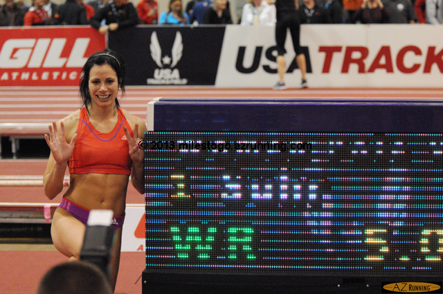 New world indoor record for Jenn Suhr.