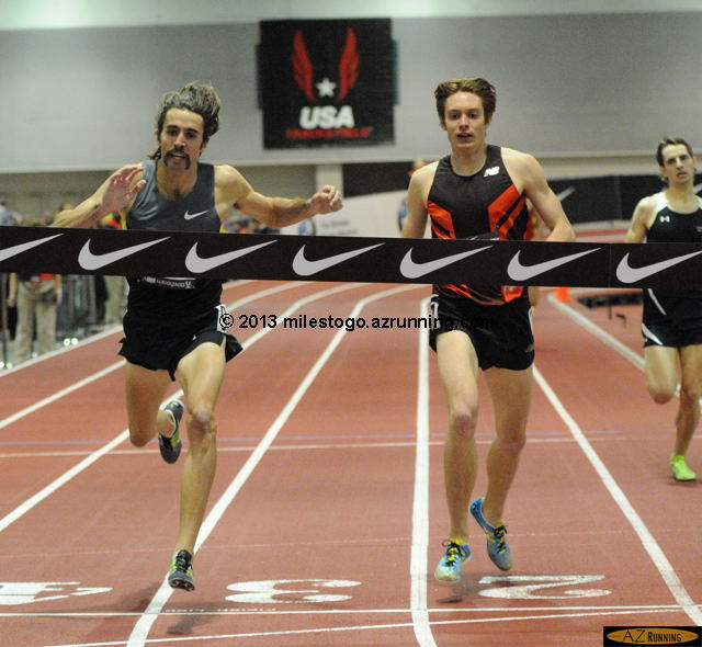 Will Leer captured the distance double championship, with a thrilling win in the men's mile.
