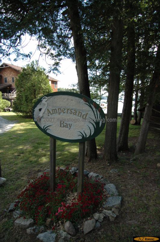 Ampersand Bay provides access to Saranac Lake