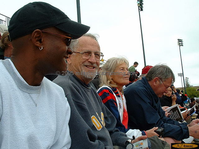 Michael, Fred, Doris & Ralph at the 2002 USATF Outdoor Championships