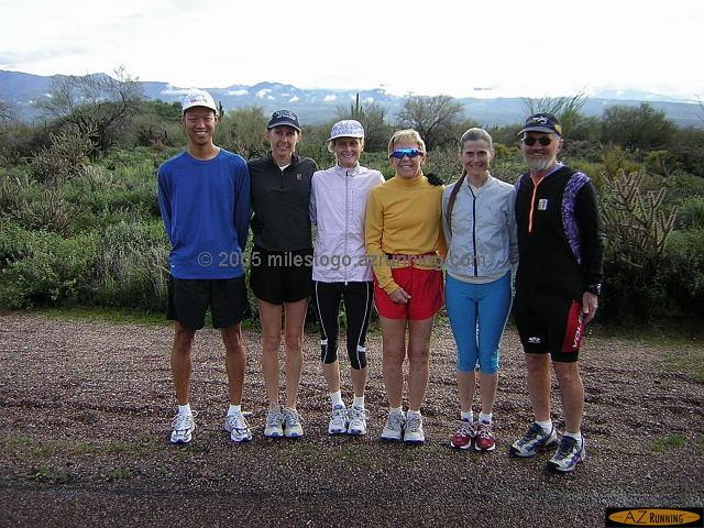 Group run at McDowell Mountain Park, February 2005