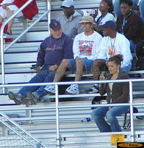 Fred, Clyde, & Mike at 2005 USATF Championships, Carson, CA