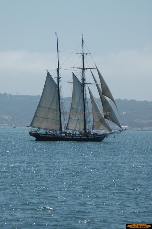 The Californian sailing San Diego Harbor