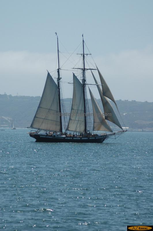 The Californian sailing San Diego Harbor